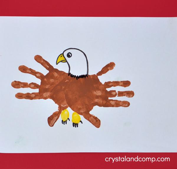 Hand Print Eagle Craft