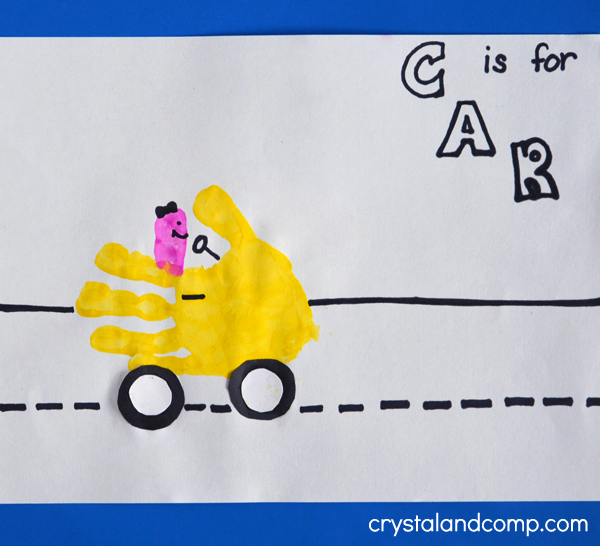 Hand Print Art: C is for Car