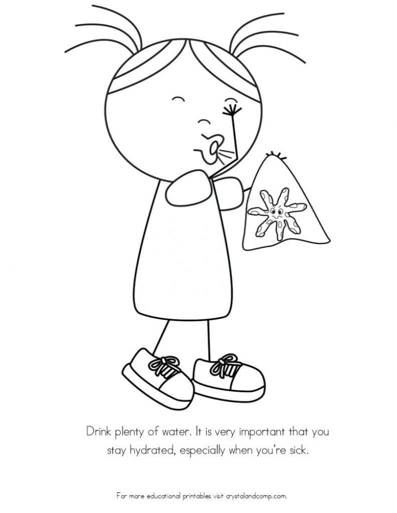 kid color pages sneezing spreads germs - Coloring Page For Kids
