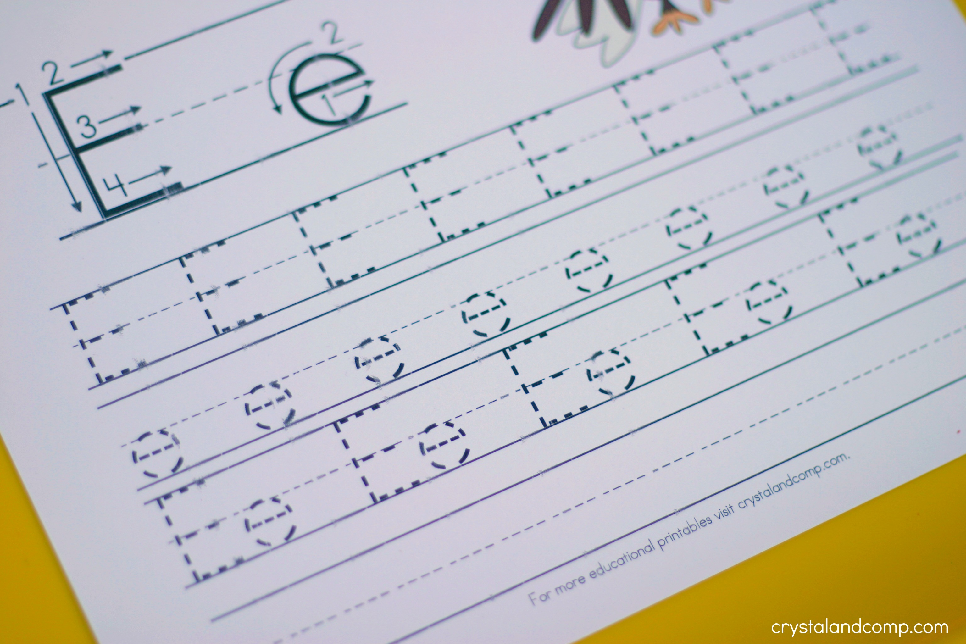 Handwriting Practice for Kids: E is for Eagle | CrystalandComp.com