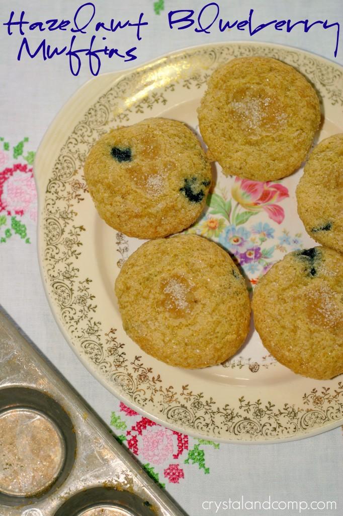 easy hazelnut blueberry muffins