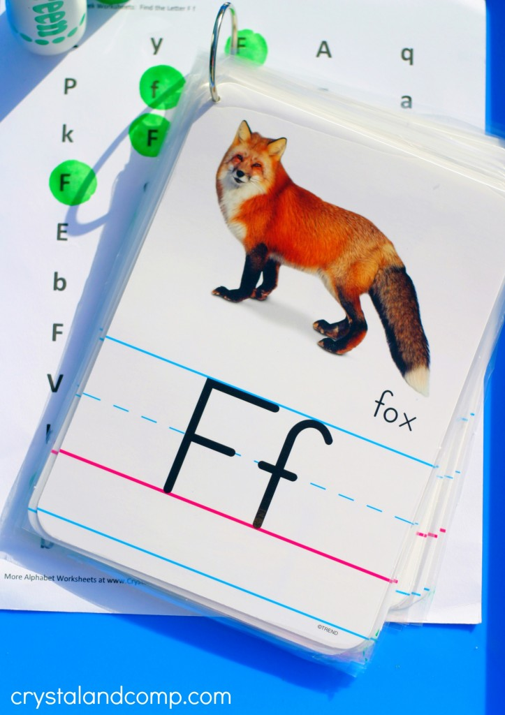 f is for fox letter of the week
