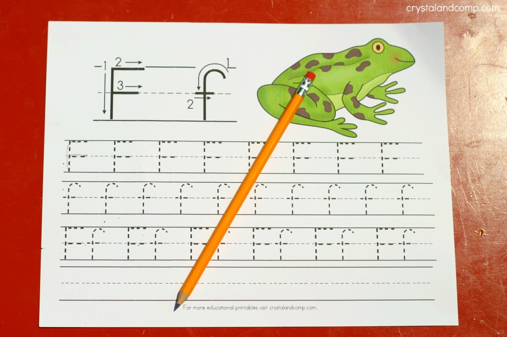 Handwriting Practice for Kids: F is for Frog | CrystalandComp.com