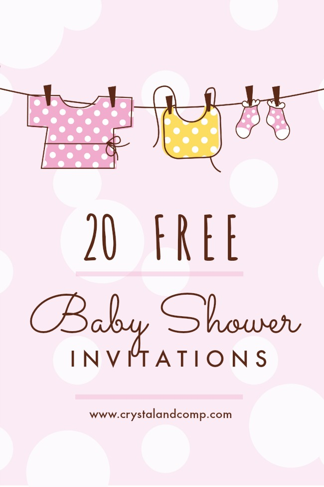Printable Baby Shower Invites | CrystalandComp.com