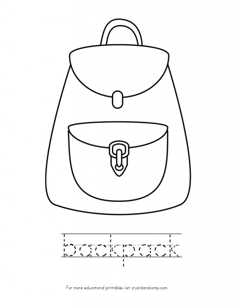 kid color pages backpack