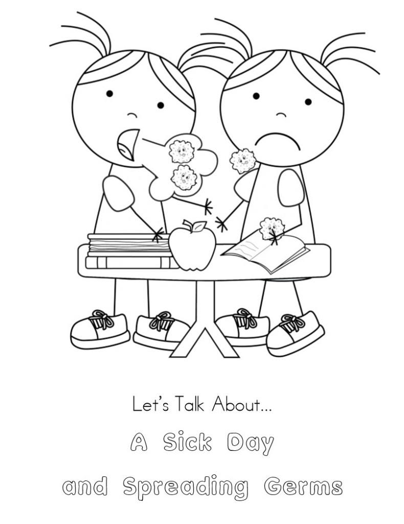 Free Worksheet Germs Worksheets kid color pages sick day and spreading germs day