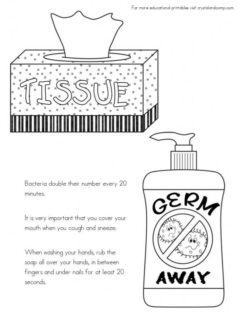 cover cough coloring pages - photo#2