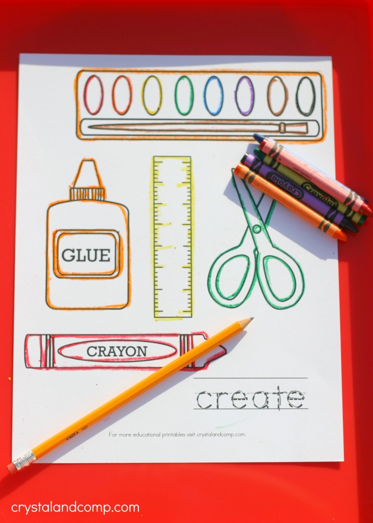 kid color pages with handwriting practice for kids