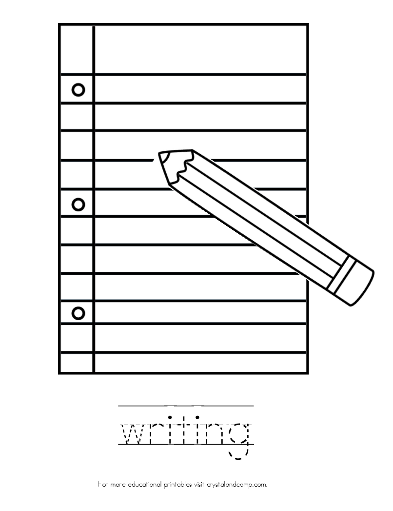 Coloring Pages For Writing : Kid color pages back to school