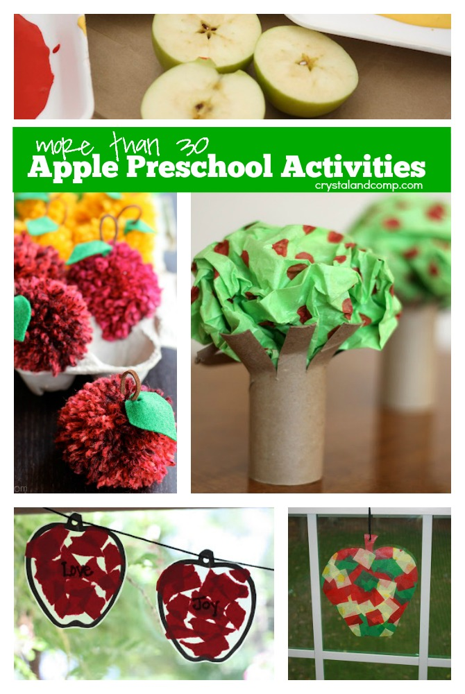more than 30 apple preschool activities