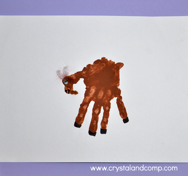 Hand Print Art: G is for Goat