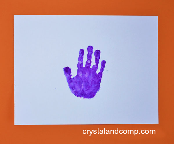 hand print art for kids