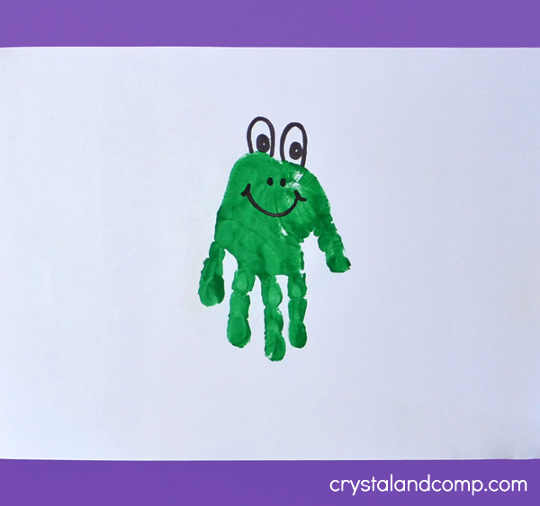 Hand Print Art - Letter F is for Frog