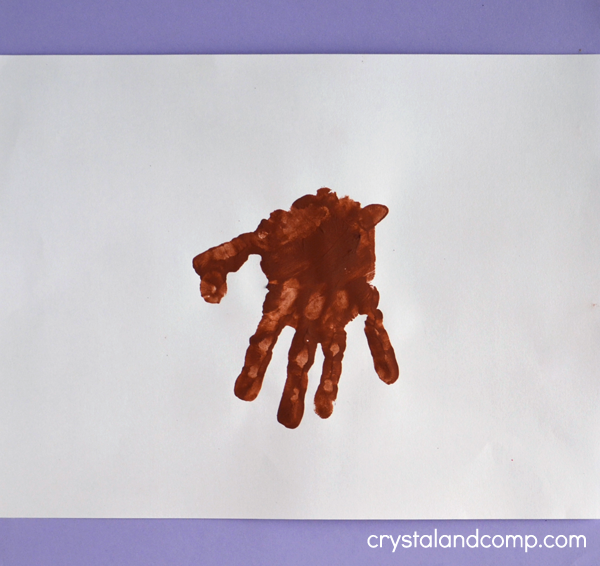 Hand Print Goat Craft