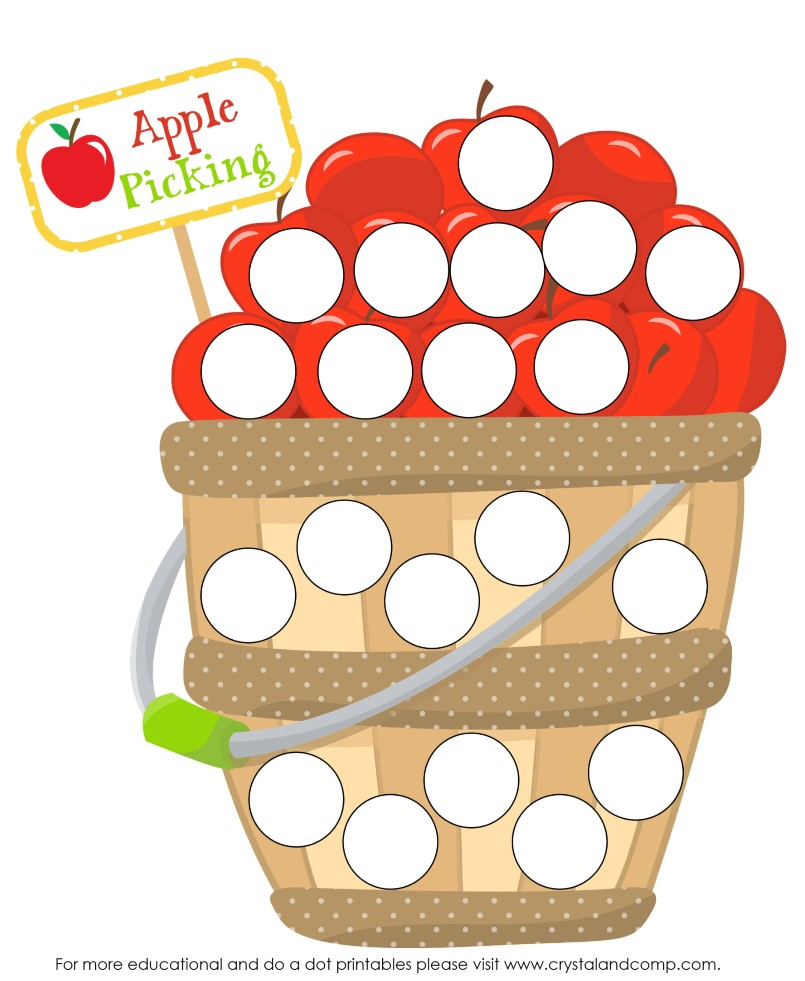 a is for apple do a dot printable