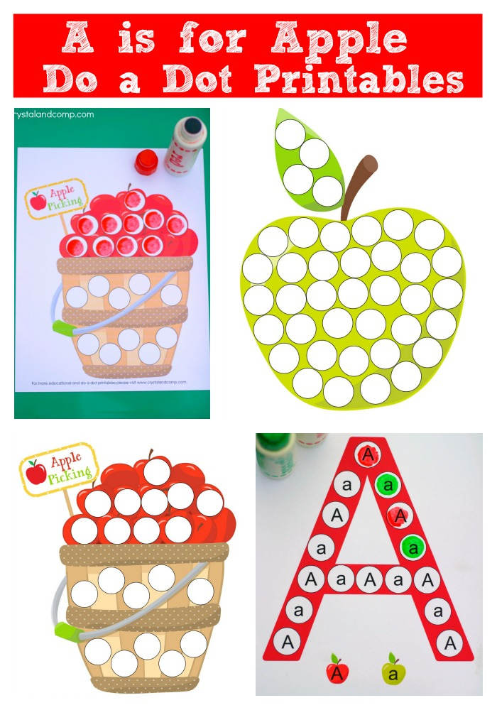 A is for Apple: Do a Dot Printables by Crystal & Co.
