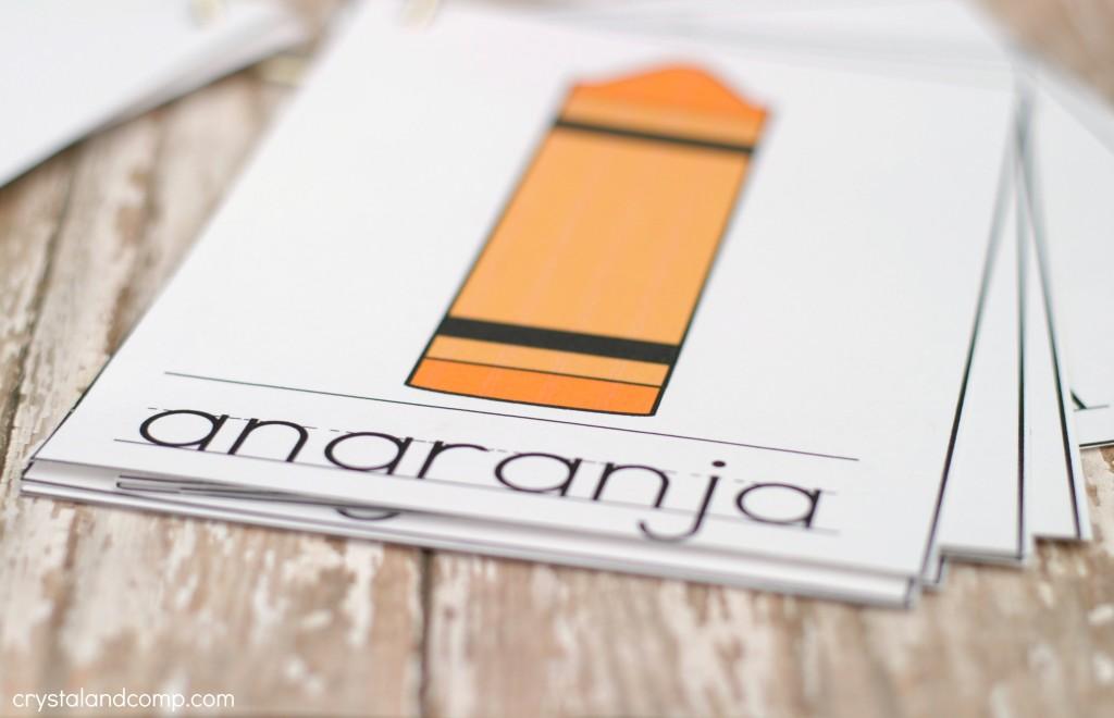 anaranja is orange in spanish