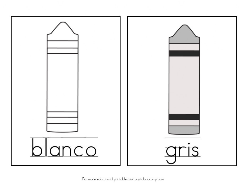blanco is white in spanish and gris is gray in spanish