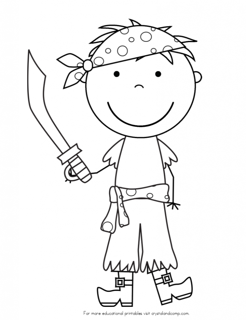 Coloring Pages Pirate Eye Patch