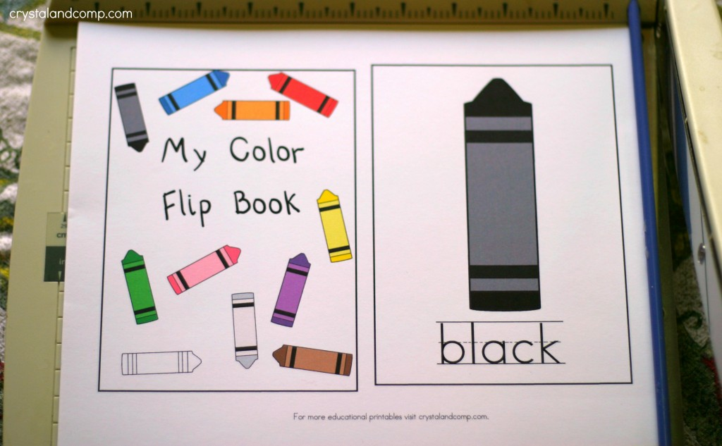 flip book ideas - My Color Book Printable