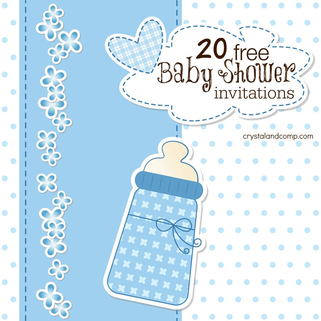 Printable Baby Shower Invitations - Print at home baby shower invitation templates