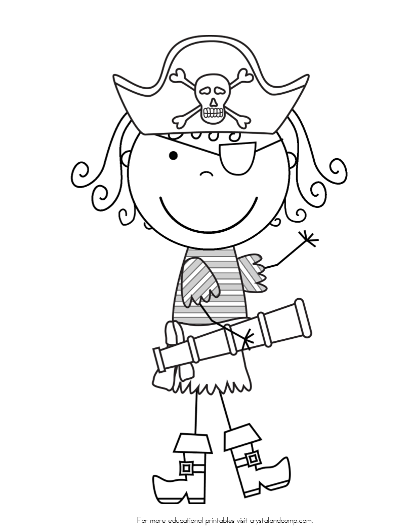 pirate coloring pages cartoon - photo#32