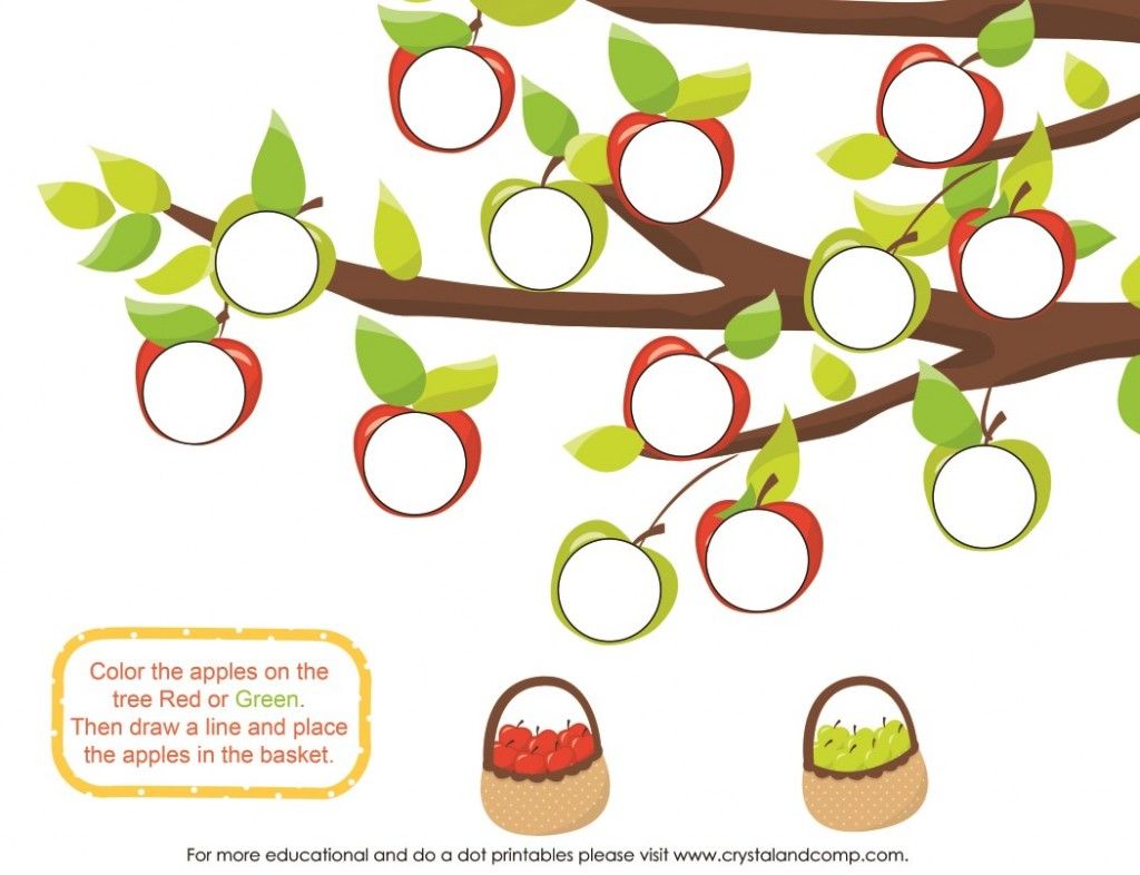 green and red apples do a dots