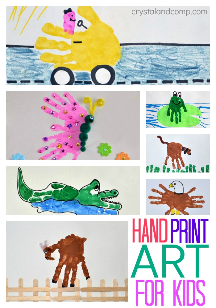 hand print art for kids