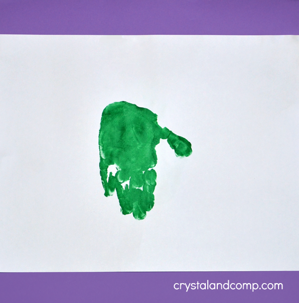 Hand Print Frog