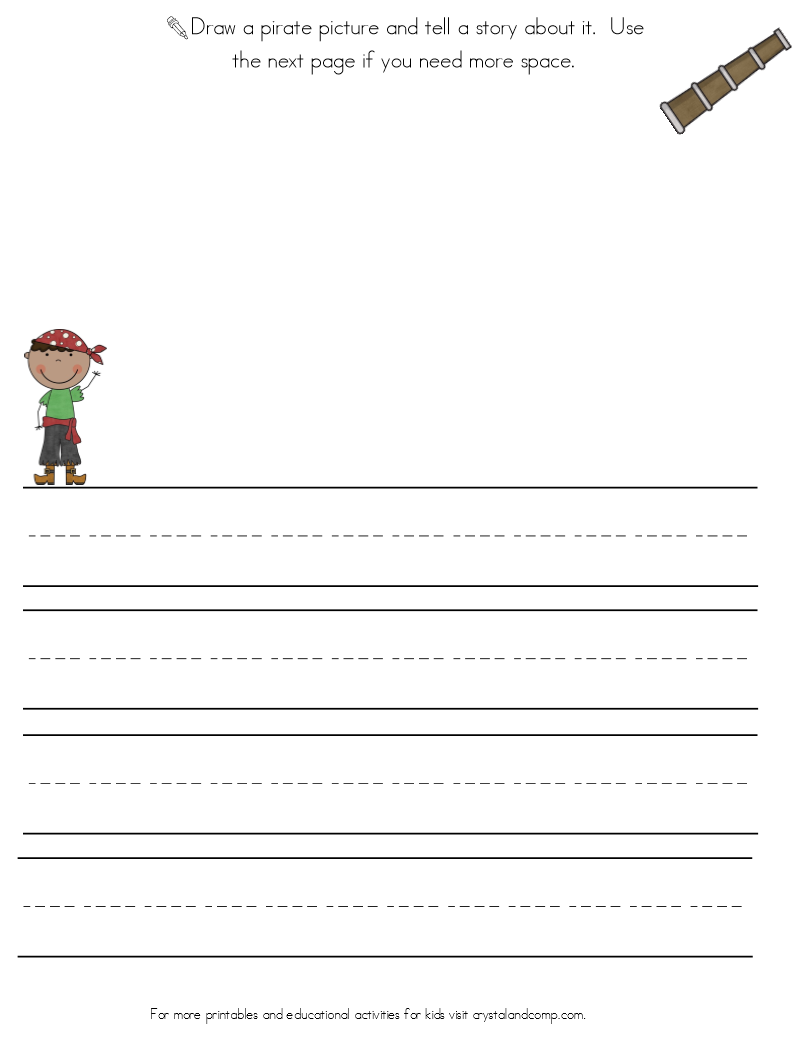 Handwriting Practice For Kids Pirate on Pattern Worksheets For Second Grade