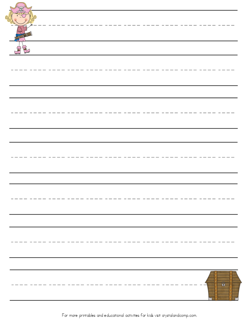 Handwriting Practice for Kids: Pirate Printables ...