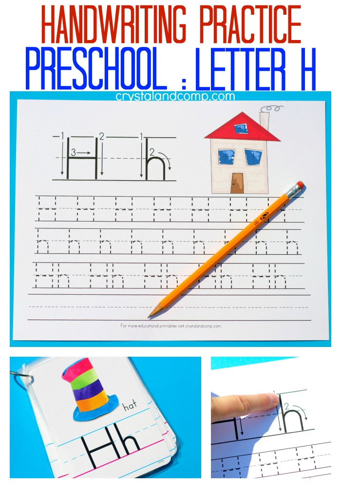 handwriting practice for perschool letter h