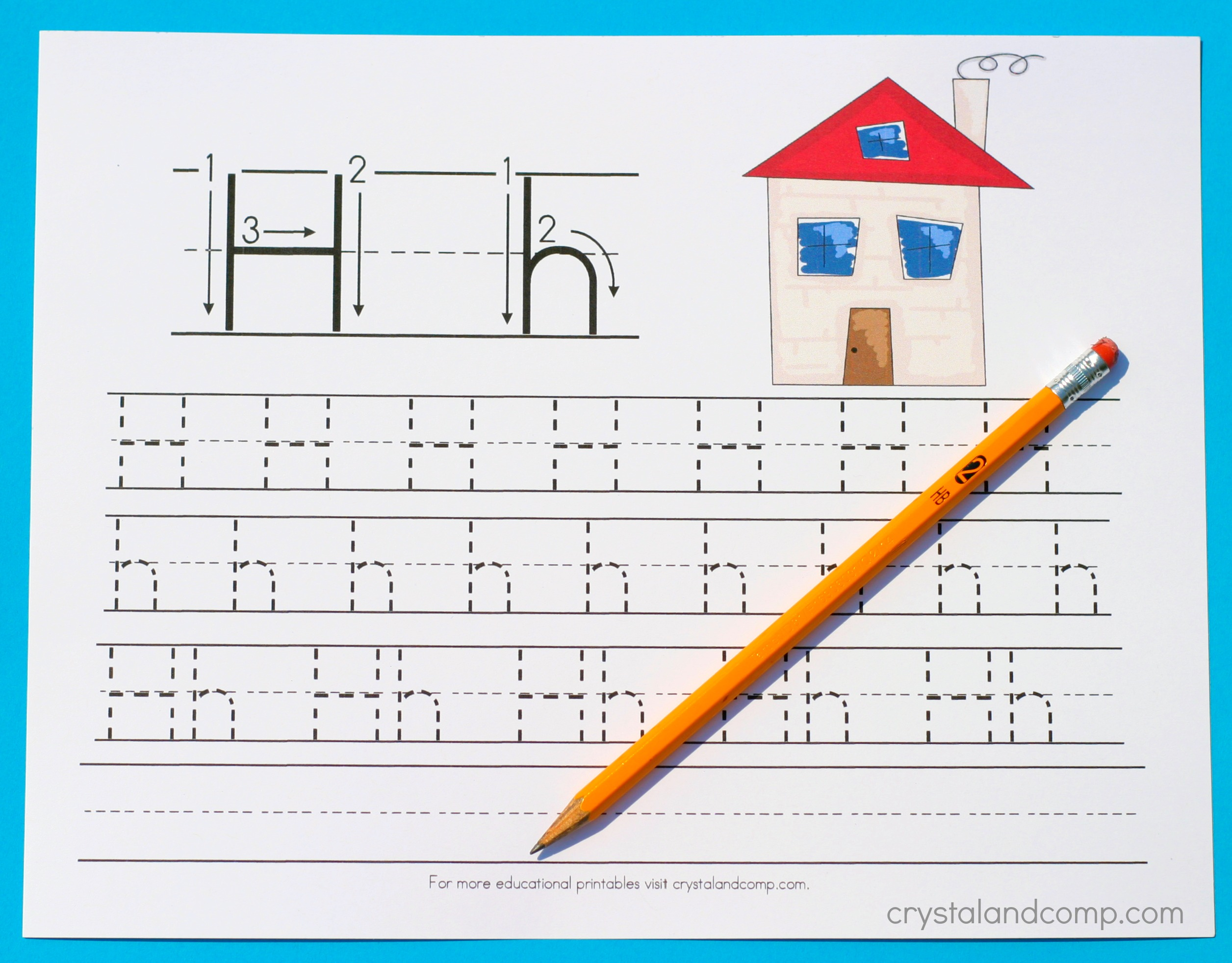 Handwriting Practice for Preschool: Letter H