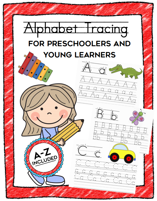 alphabet tracing printables for preschoolers