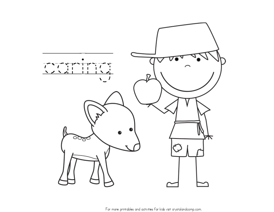 johhny appleseed coloring pages - photo#24