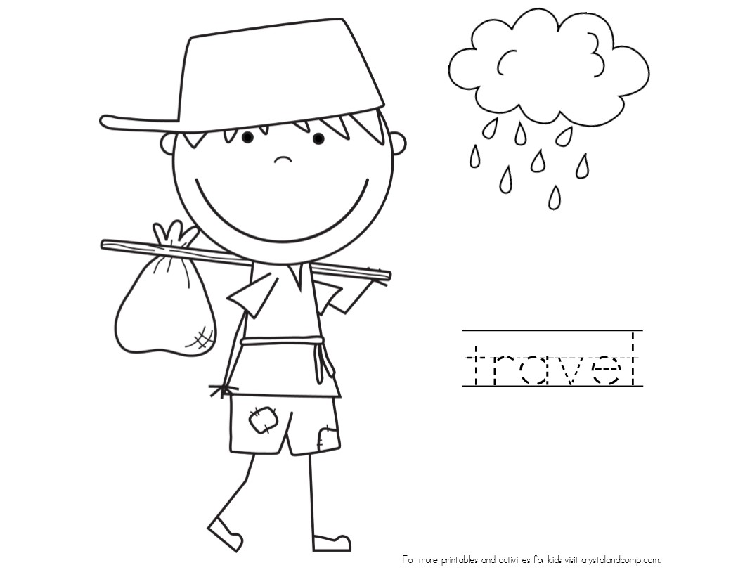 Kid Color Pages Johnny Appleseed Johnny Appleseed Coloring Page