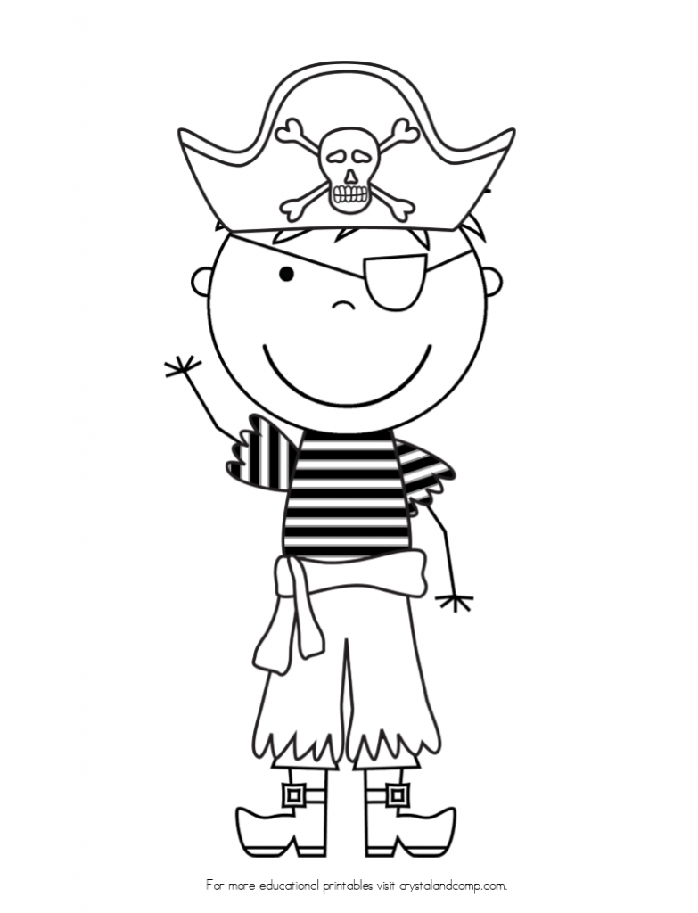 Pirate colouring pages to print - Kid Color Pages Pirate Boy