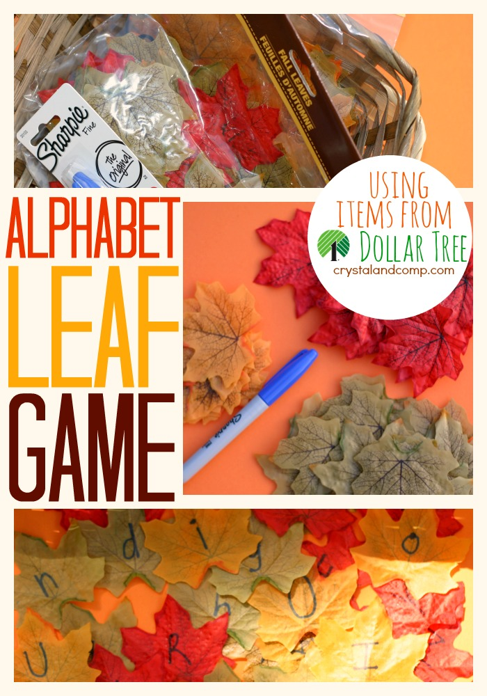 leaf activities for kids from dollar tree