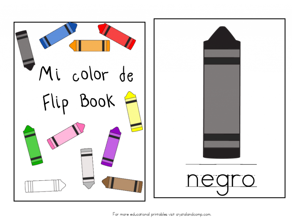 mi color de flip book in spanish