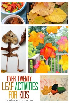 more than 20 leaf activities for kids