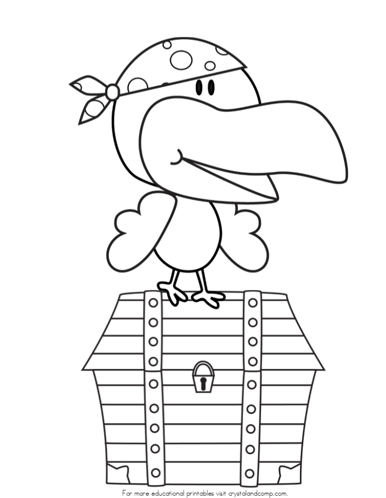 Kid color pages pirates for Pirate coloring pages for preschool