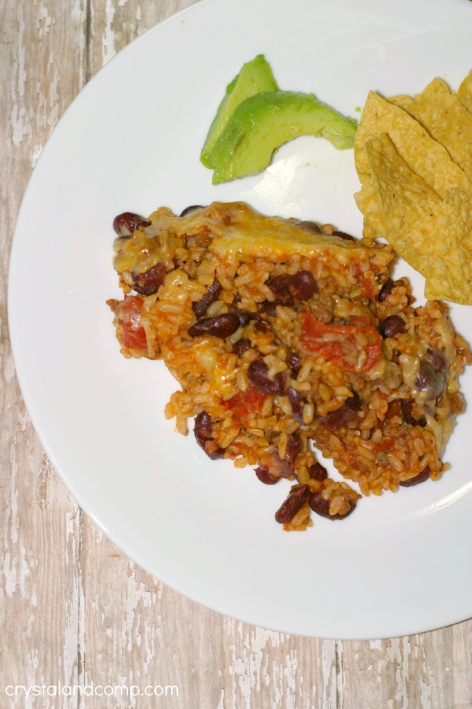 rice bean and beef casserole