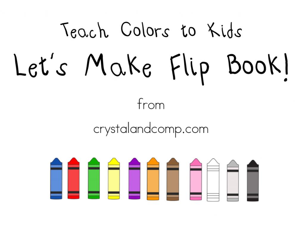 teach colors to kids flip book
