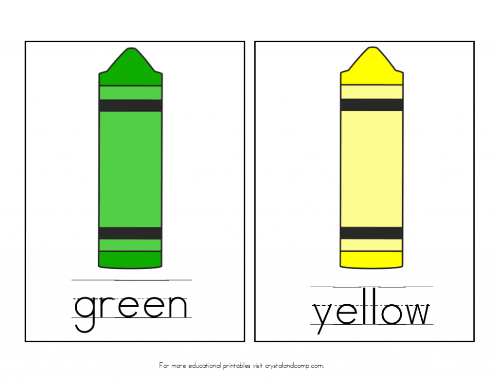 teach colors to kids green and yellow