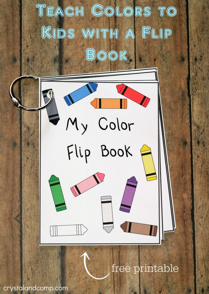 teach colors to kids with a flip book free printable - My Color Book Printable
