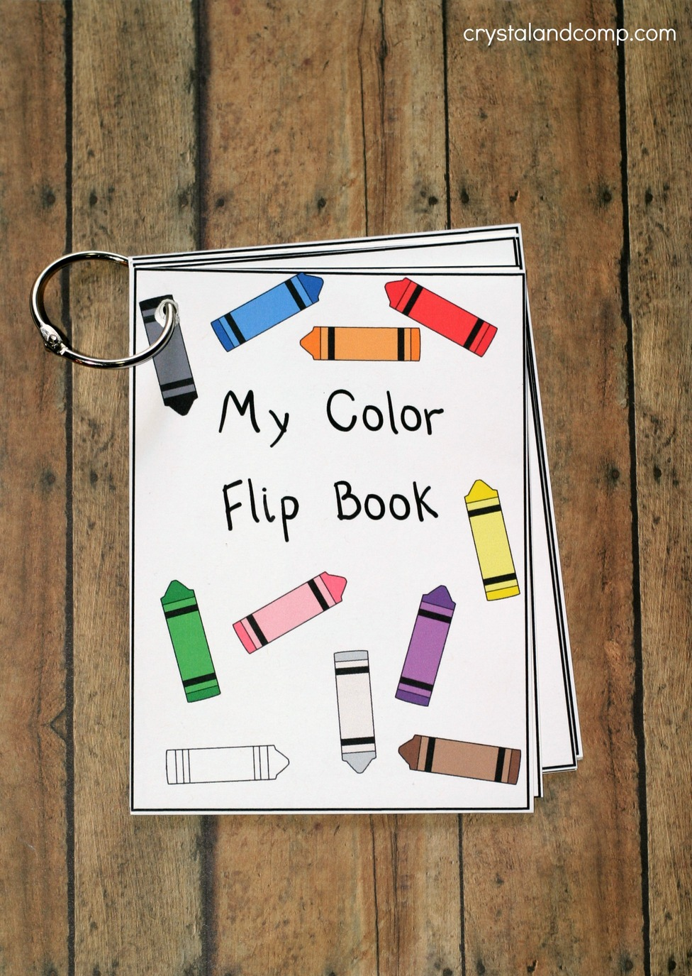 Teach Colors To Kids Flip Book