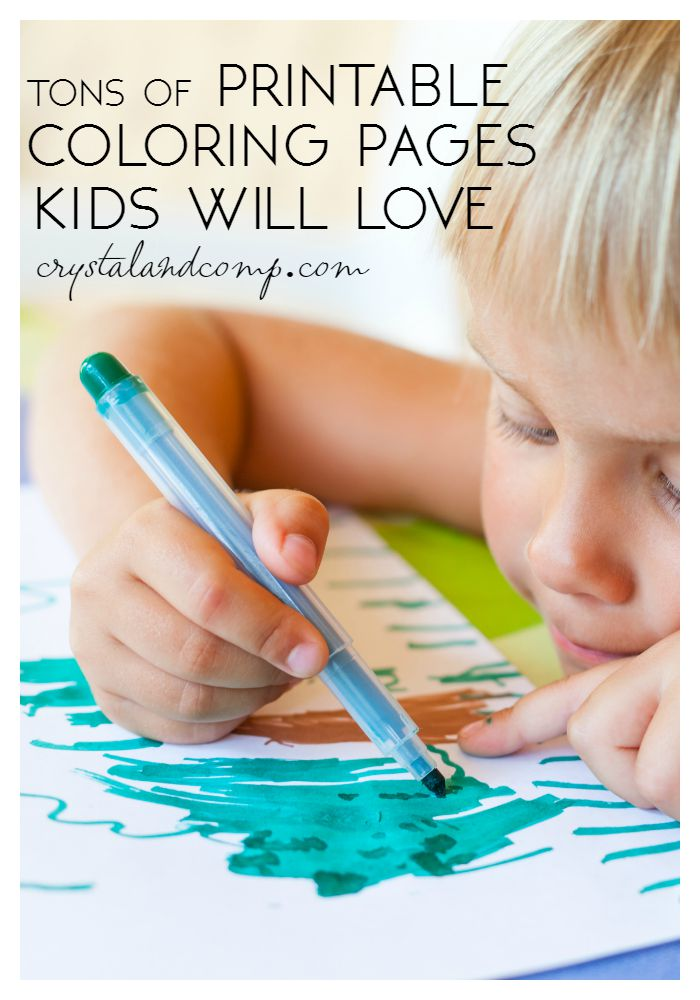tons of printable color pages for kids