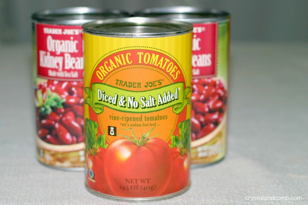 trader joes organic diced tomatoes and red kidney beans