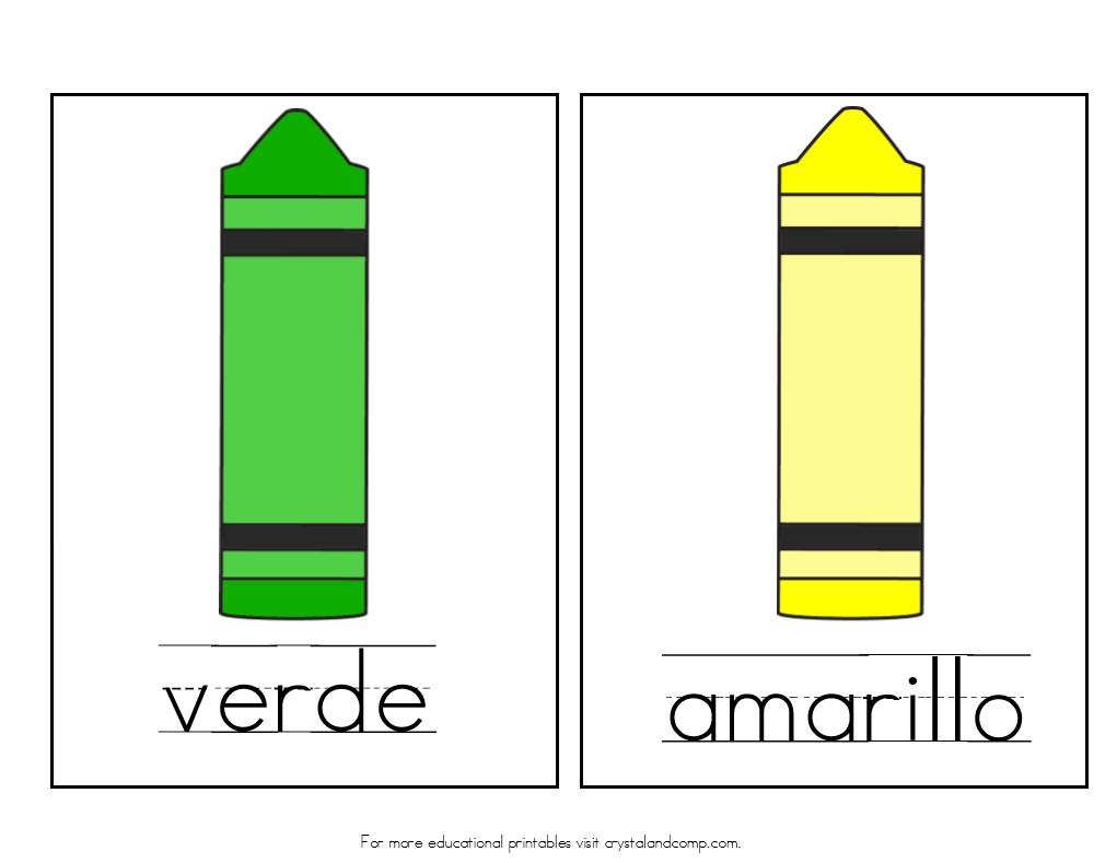 verde is green amarillo is yellow