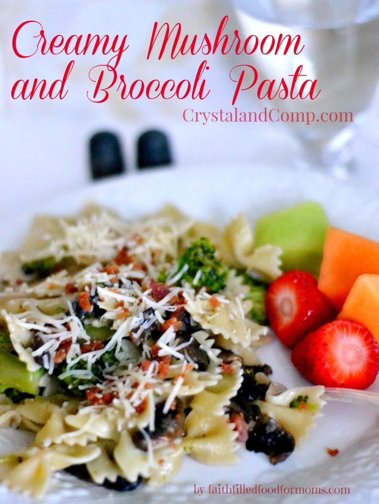 Creamy Mushroom and Broccoli Pasta